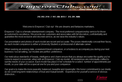 Emperors Club VIP Welcome Message 3